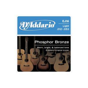 D'addario EJ16 Phosphor Bronze Light 12/53