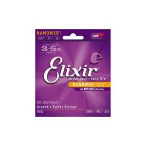 Elixir Acoustic Guitar Strings 12-53 Bronze 11052