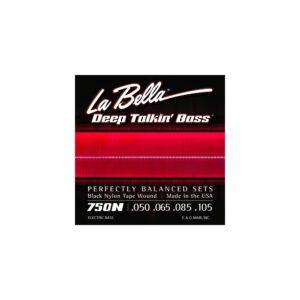 La Bella 750N Black Talkin' Bass 050 105