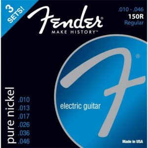 Fender 150R Pure Nickel Regular Electric Guitar Strings 3 Sets Pack