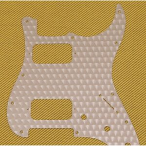 Fender Engine Turned Clear Aluminum HH Stratocaster Pickguard
