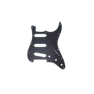 Fender Engine Turned Black Aluminum SSS Stratocaster Pickguard